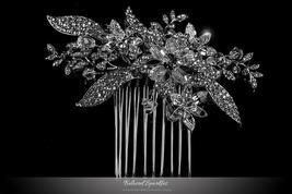 Nicolette Garden Flower Leaves Hair Comb | Swarovski Crystal - $83.95