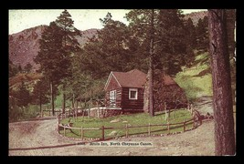 Bruin Inn Log Postcard Colorado North Cheyenne Canon Log Inn Hotel Motel... - $16.99
