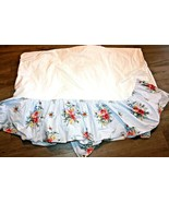 Chaps Ralph Lauren Queen / Full Blue Stripe French Country Floral Bed Skirt - $56.99