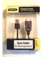Griffin Charge Sync Cable for Samsung Players P2 S3 S5 T10 10023-SMSGCBL - $4.21