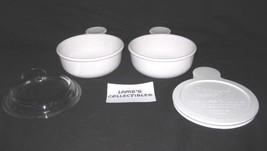 """corning ware grab it set of two 5 1/2"""" diameter includes glass lid plast... - $26.99"""