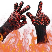 Acmind BBQ Grill Gloves, 932°F Heat Resistant Grilling Gloves, Barbeque/... - $14.36