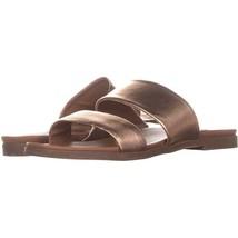 Steve Madden Judy Flat Slide Sandals 632, Rose Gold, 7 US - $23.99