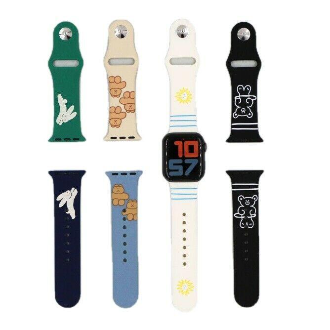 Romane Apple Watch Silicone Strap Band for Women Cute Korean Design 38mm 40mm