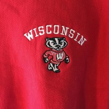 Vintage Champion Reverse Weave Sweatshirt Wisconsin M Medium Red - $29.02