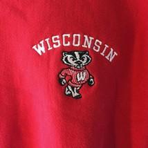 Vintage Champion Reverse Weave Sweatshirt Wisconsin M Medium Red - $29.02