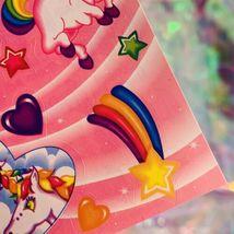 ⚡️SALE  S123 LISA FRANK Markie Unicorn Butterflies Hearts Stars HTF image 5