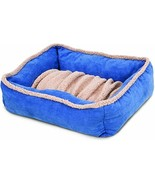new Aspen Pet Self Warming Dog Bed 35x27 angora lambs wool plush with ta... - $44.98