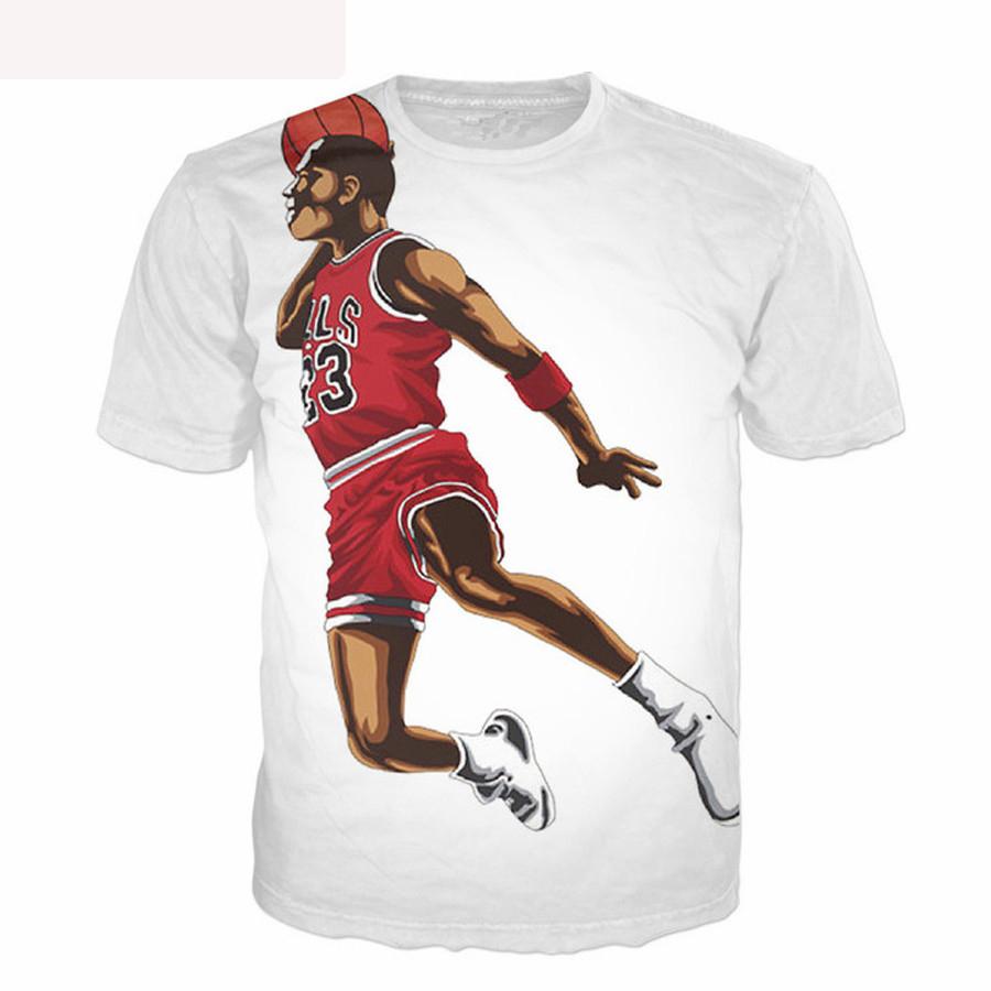 b7d20694acabca Jordan t shirt no 23 jersey short sleeve jordan dunk 3d print hip hop t  shirt