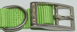 Valhoma 730 18 LG Dog Collar Lime Green Single Layer Nylon 18 inches Package 1 image 3