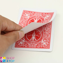 BICYCLE RIDER BACK NO FACE SINGLE CARD MAGIC TRICKS PLAYING GAFF RED NEW - $1.95