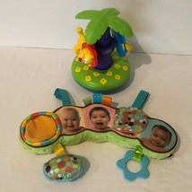 Lamaze Press N Spin Spinning Tree and Manhattan Toy Car Seat Crib Toy Ba... - $24.99