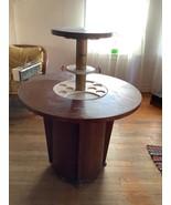 Vtg mid century modern retro pop up wood bar cocktail surprise table Art... - $1,200.00