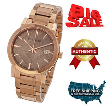 NEW BURBERRY BU9034 Swiss Made Rose Gold Stainless Steel Unisex Watch, - $292.05