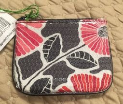 Vera Bradley Shimmer Zip Pouch Cheery Blossoms NWT - $18.80