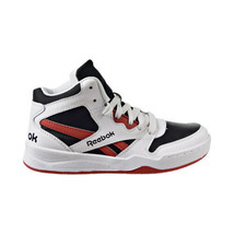 Reebok BB 4500 Court Kids' Shoes White-Black-Legacy Red EH3012 - $35.00
