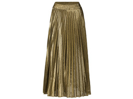 SILVER SKIRT Pleated Skirt Women High Waisted Full Pleated Party Skirt US0-US18 image 4