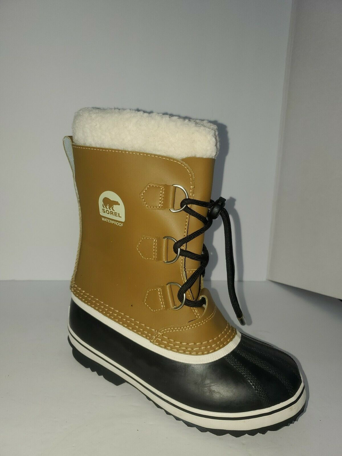 Primary image for SOREL CARIBOU Women's Leather Winter Snow Waterproof Boots SIZE 4