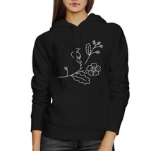 Flower Unisex Hoodie Lovely Flower Design Roundneck Pullover Fleece - $25.99+