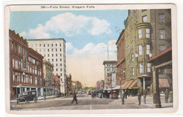 Falls Street Niagara Falls New York 1925 postcard - $5.94
