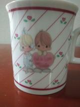 1986 Precious Moments Coffee Mug/Cup God is Love Dear Valentine Enesco Heart - $5.89