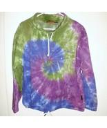 SILVERWOOD THEME PARK Sweatshirt Sz L (?) Women's Tie Dye Pullover Purpl... - $19.79