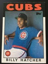 1986 Topps BILLY HATCHER ROOKIE #46 CUBS Baseball Card - $1.48