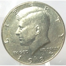 1985-P Kennedy Half Dollar BU in the Cello #0613 - $4.79