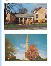 Vermont Bennington Museum and Battle Monument 2 Vintage Mike Roberts Pos... - $4.99