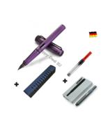 Lamy Safari Purple Fountain Pen F Nib Set with Free Converter + 5 black ... - $18.49