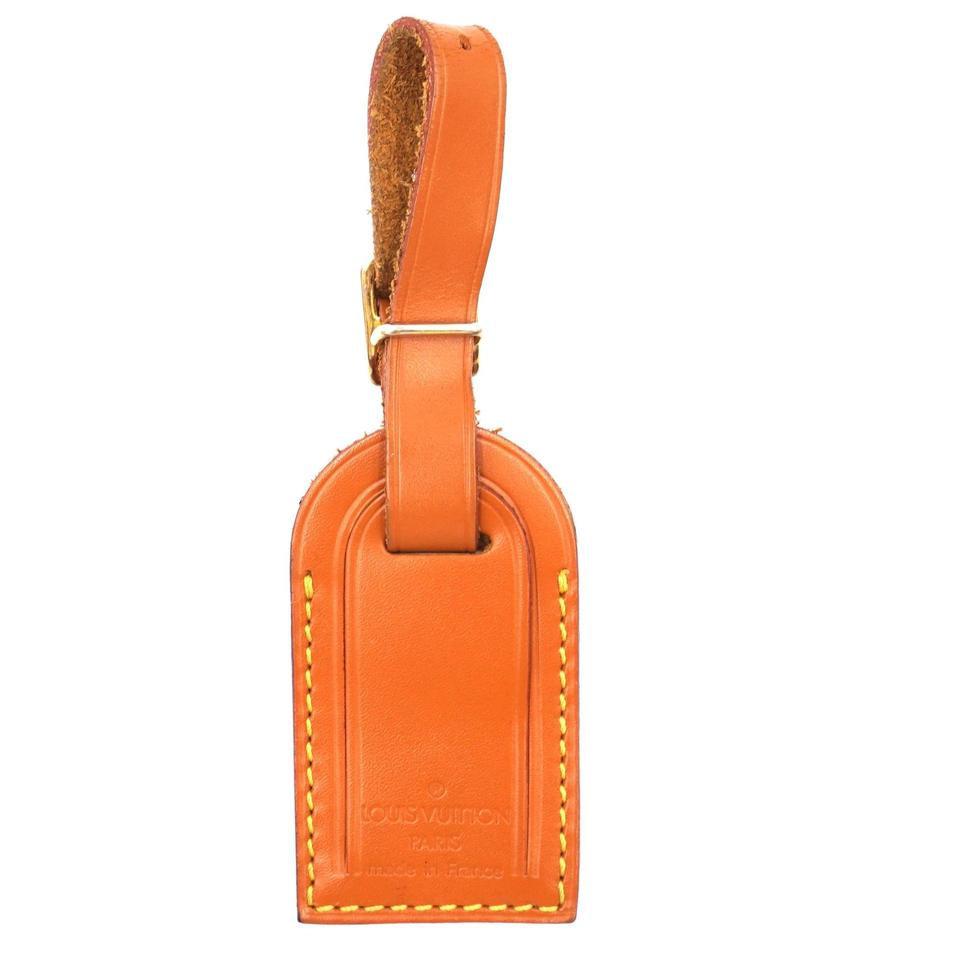 #31280 Louis Vuitton Cipano Gold Rare Small Smooth Calf Leather Luggage Tag - $90.00