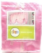 Girls Pink Window Valance 54x22 inch Ribbon Ties Satin Polyester - $17.99