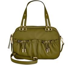 Donna Karan DKNY Drawstring Crossbody Leather Handbag Satchel, Olive Green - $199.00