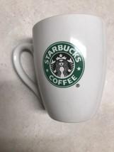 Starbucks Original White Coffee /Tea Ceramic Mug Cup Green Mermaid 14oz 2008 - $7.76