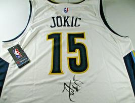 NIKOLA JOKIC / AUTOGRAPHED DENVER NUGGETS WHITE FANATICS BRAND NBA JERSEY / JSA