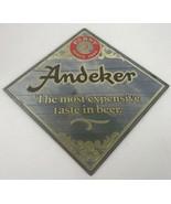 """Pabst Andeker Beer Mirror Sign Most Expensive Taste in Beer Vintage 16""""x... - $44.44"""