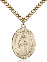 14K Gold Filled St. Odilia Pendant 1 x 3/4 inch with 24 inch Chain - $135.80