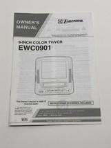 Emerson EWC0901 TV VCR Manual Instructions Booklet - $12.82