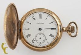 Gold Filled Waltham Antique Full Hunter Pocket Watch Gr: Seaside 6S 7 Jewel - $181.92