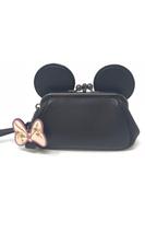NWT Coach F30212 Disney X  Kisslock Wristlet Minnie Mouse Ears Limited Edition - $145.79