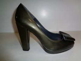 Stuart Weitzman Size 10 M BOWRIGHT Gray Quasar Leather Heels New Womens ... - £200.79 GBP
