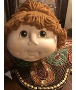 The Original Doll Baby Head Yarn Brown Hair Ponytail - $10.44