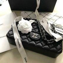 Chanel Matelasse Silver Chain Shoulder Bag Black Crossbody Auth New Unused Woman - $6,205.25