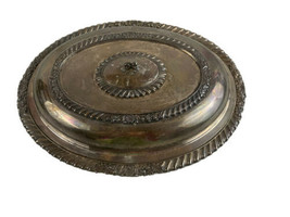 Covered Dish with Scalloped Edging Marked Heavy Vintage - $27.67