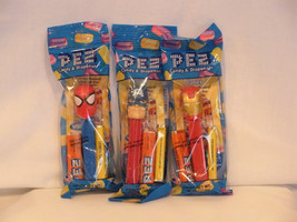 Pez Marvel Spiderman Ironman Captain America  Super Hero Lot New In Package - $6.99