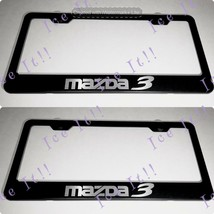 2X Mazda 3 Stainless Steel Black License Plate Frame Rust Free - $23.75