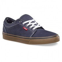 VANS CHUKKA LOW BANDANA NAVY GUM CANVAS SZ MENS 7 25 CM SHOES WOMENS 8.5 NEW nib
