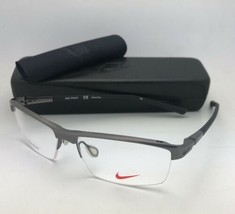 Nuovo Nike Occhiali da Sole 6050 068 55-14 145 Mezza Montatura Grigio Scuro - $199.57