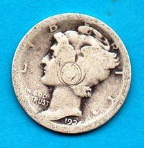 1924 Mercury Dime - Heavy Wear to date and edges - $6.31