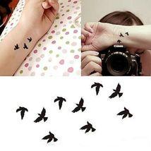 Arm Temporary Tattoos Art Sticker Waterproof Women Small Birds Fly image 3